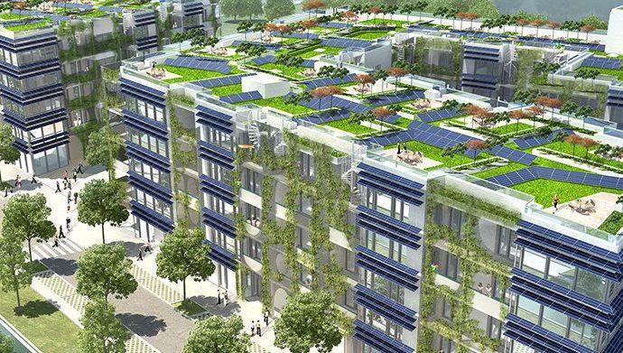 В Германии строят крупнейший в мире энергоэффективный жилой комплекс