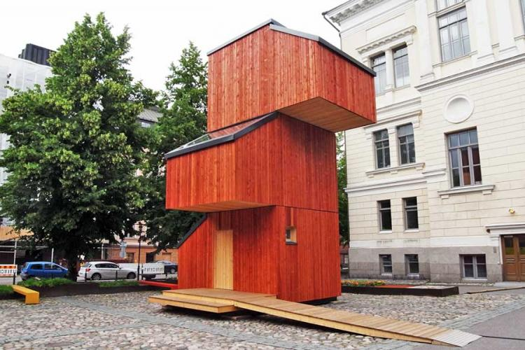 Финны придумали компактное жилье для бездомных